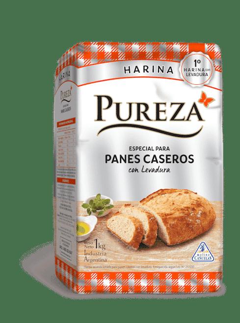 Pureza Harina Panes Caseros 1 Kg. Flour Handmade Bread. Argentina Select.