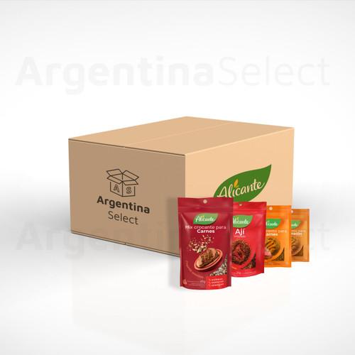 Alicante Condimentos x 100 Bolsas de 25 gr. Caja mayorista. Free Shipping. Argentina Select.
