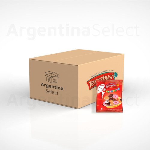 Galletitas Terrabusi Variedad Assorted Cookies Boca de Dama, Duquesa, Anillos & Melba, 400 g. Box x 40 bolsas. Free Shipping. Sólo en Argentina Select.
