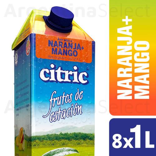Citric Jugo Natural Naranja Mango - Orange & Mango Natural Juice 8 Packs x 1 L. Only in Argentina Select.