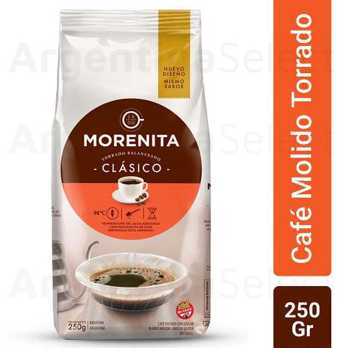 Café Molido La Morenita Torrado Intenso 250 Gr. Roasted Coffee. Argentina Select.