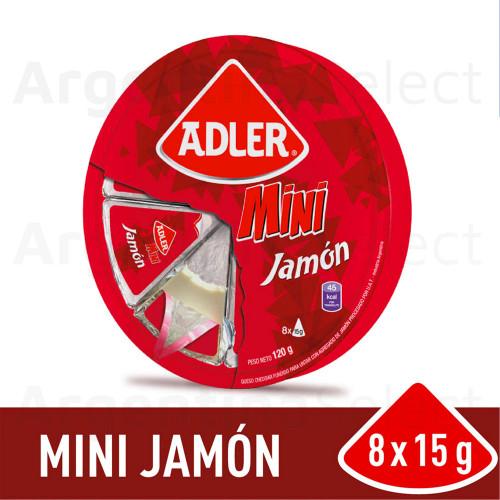 Adler Snack Queso Mini Jamón 120 gr. Cheese Ham Snack