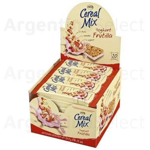 Arcor Cereal Mix Barrita Yoghurt Frutilla. Caja x 20.