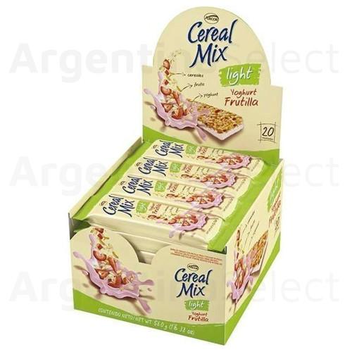 Arcor Cereal Mix Barrita Yoghurt Frutilla Light. Caja x 20.