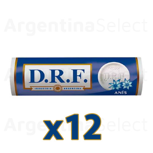 DRF Pastillas Anís Candy Pills Anise (23 gr). Caja x 12. Argentina Select.