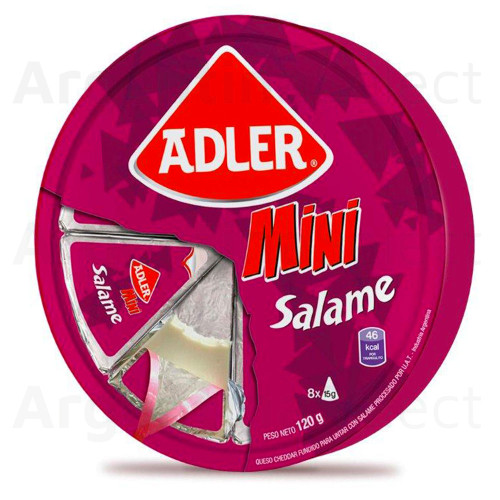 Adler Snack Queso Mini Salame 120 gr. Salami Cheese Snack. Argentina Select.