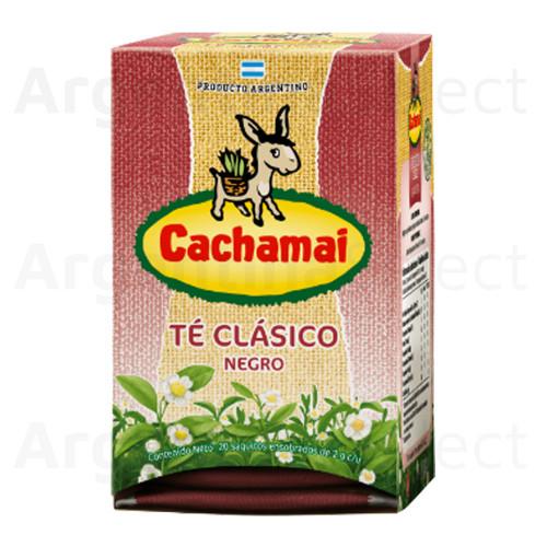 Te Cachamai Negro (40 gr). Pack x 20. Black Tea.
