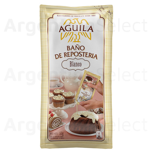 Aguila Baño De Reposteria Chocolate Blanco (150 gr). White Chocolate Coating. Argentina Select.