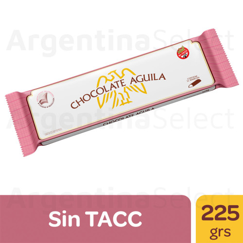 Aguila Chocolate Semi Amargo Barra (252 gr). Semi Bitter Chocolate Bar. Argentina Select.