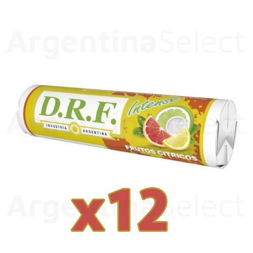 DRF Pastillas Intense Citrus Candy Pills Citric (23 gr). Caja x 12. Argentina Select.