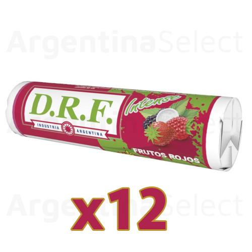 DRF Pastillas Frutos Rojos Candy Pills Berries (23 gr). Caja x 12. Argentina Select.