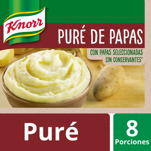 Knorr Pure Instantaneo (200 gr). Instant Mashed Potatoes. Argentina Select.