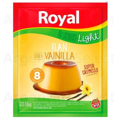 Royal Flan Light Vainilla en Polvo (16gr). Argentina Select.