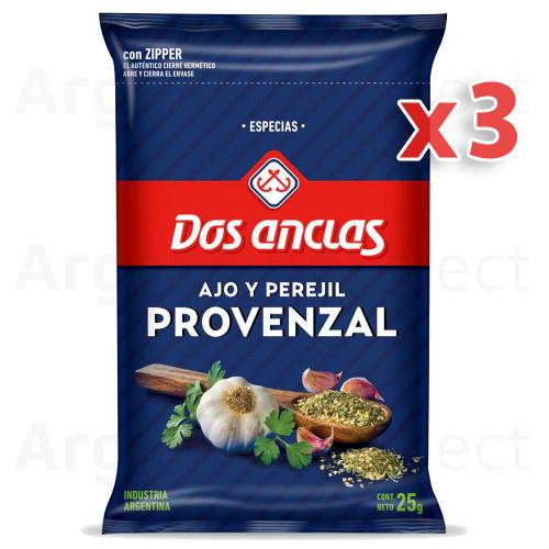 Dos Anclas Condimento Provenzal (25 gr). Pack x 3. Argentina Select.