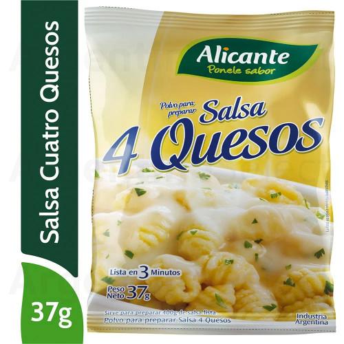 Alicante Salsa 4 Quesos en Polvo (37 gr). Argentina Select.