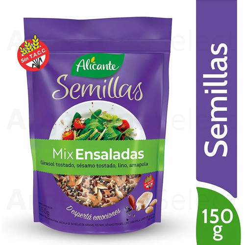Alicante Semillas Mix Ensaladas (150 gr). Mixed Seeds for Salads. Argentina Select.