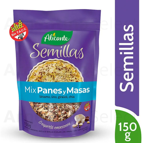 Alicante Semillas Mix Panes y Masas (150 gr). Mixed Seeds. Argentina Select.