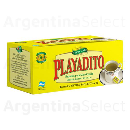 Mate Cocido Playadito en Saquitos (25 unidades). Argentina Select.