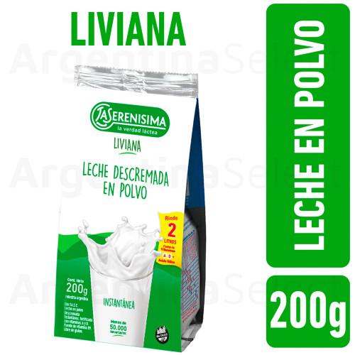 La Serenisima Leche Descremada en Polvo (200 gr). Argentina Select.