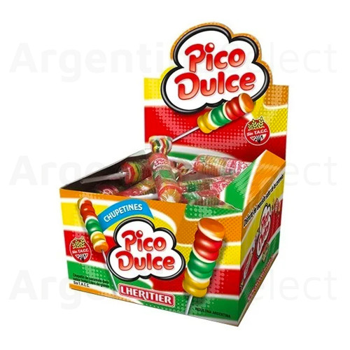 Pico Dulce Chupetines (15 gr). Caja x 24. Argentina Select.