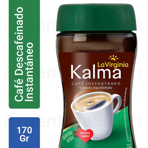 La Virginia Cafe Instantaneo Kalma Descafeinado (170 gr). Instant Decaf Coffee. Argentina Select.