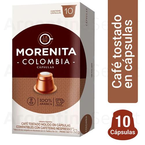 La Morenita Cafe Capsulas Colombia Nespresso (80 gr). Caja x 10. Argentina Select.