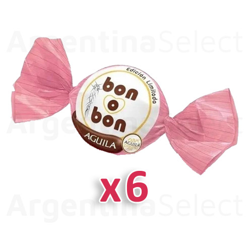 Bon o Bon Chocolate Coated Bite Filled With Aguila Chocolate - Pack of 6. Argentina Select.