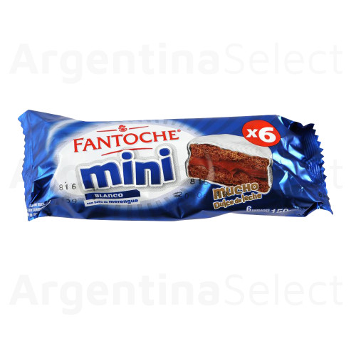 Fantoche Alfajorcitos Small Alfajor Italian Merengue w/ Dulce de Leche. 6 units. Argentina Select.