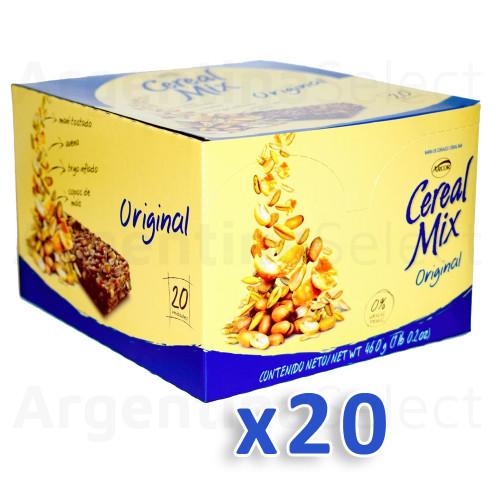 Arcor Cereal Mix Barrita Clásica Azul. Caja x 20. Argentina Select.
