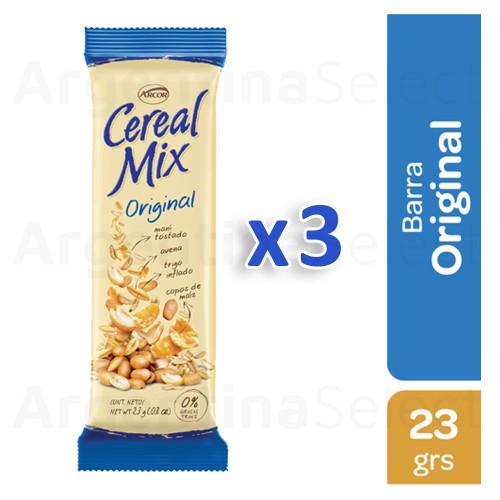 Cereal Mix Barra Clásica Azul (23 gr). Pack x 3. Argentina Select.
