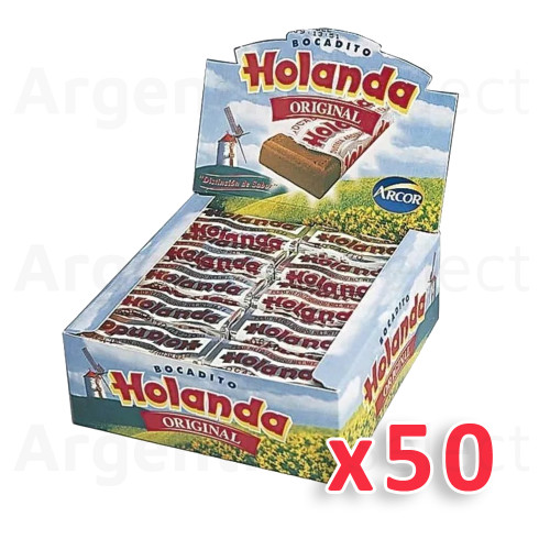 Bocadito Holanda Traditional Argentinian Bites, 525g / 18.5 oz (box of 50). Argentina Select.