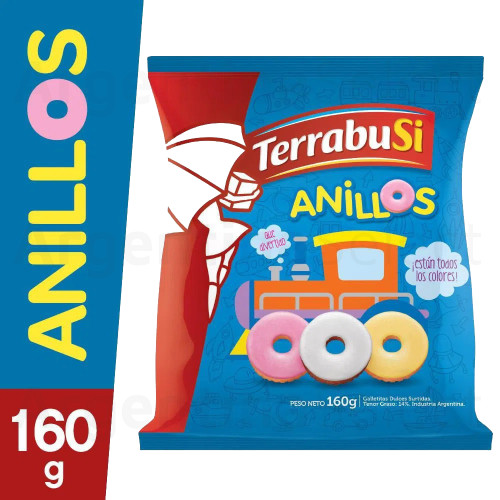 Anillos Terrabusi Galletitas Sweet Ring Cookies, 160 g / 5.6 oz. Argentina Select.