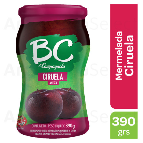 BC La Campagnola Mermelada de Ciruela Light, 390g. / 13.7 oz Light Plum Jam. Argentina Select.