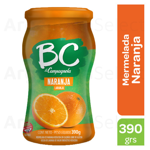 BC La Campagnola Mermelada de Naranja Light, 390g. / 13.7 oz Light Orange Jam. Argentina Select.