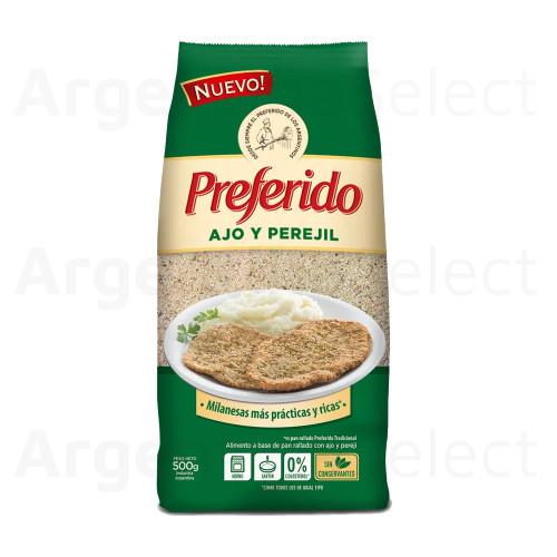Pan Rallado Preferido Ajo y Perejil for Milanesas & Rebozados, 500g. / 1.1 lb bag. Argentina Select.