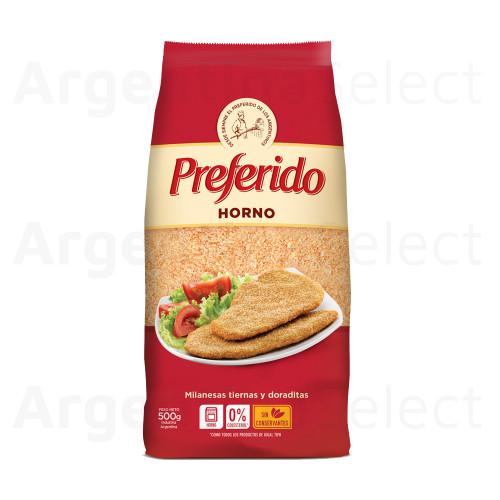 Pan Rallado Preferido Horno for Milanesas & Rebozados, 500g. / 1.1 lb bag. Argentina Select.