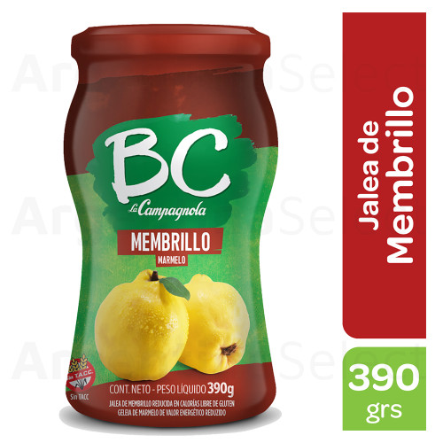 BC La Campagnola Mermelada de Membrillo Light, 390g. / 13.7 oz Light Quince Jam. Argentina Select.