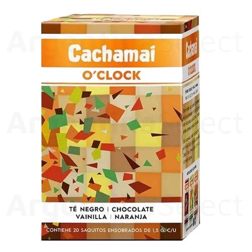 Te Cachamai O´Clock Premium - Negro, Chocolate, Vainilla, Naranja (30 gr). Pack x 20. Herbal Tea. Argentina Select.