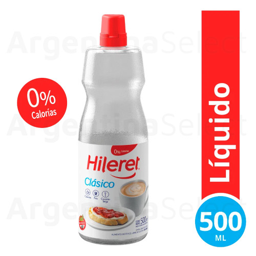 Hileret Edulcorante Líquido Clásico, 500Ml. Sweetener in Bottle. Argentina Select.