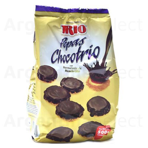 "Trio Pepas de Membrillo c/chocolate Quince Jelly ""Pepas"" w/chocolate Sweet Snack, 500 g / 17.6 oz. Argentina Select."