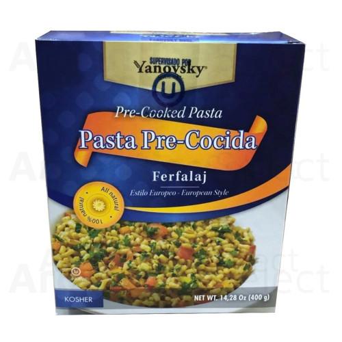 Farfalej Ferfalaj Pasta Pre Cocida Estilo Auropeo Kosher 400 gr. Sin sal. Producto exclusivo de Argentina Select.
