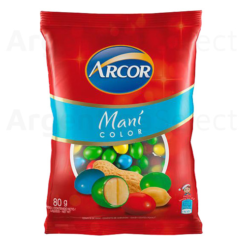 Arcor Maní Color Candied Peanuts Confites de Maní, 80 g / 2.8 oz. Argentina Select.