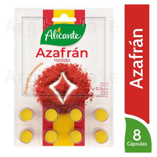 Alicante Azafrán Molido | Ground Saffron, (8 Cápsulas). Argentina Select.