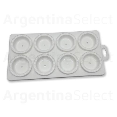 Placa Molde Plástica para Cortar Sorrentinos, 8 Cortes. Argentina Select.