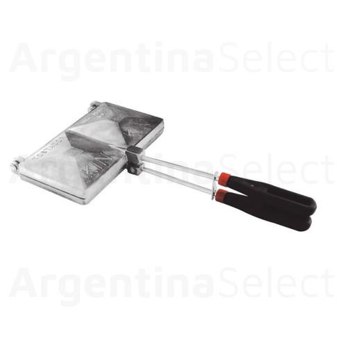 Tostador de Sandwich Doble en Aluminio para Hornalla. Argentina Select.