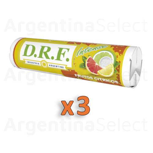 DRF Pastillas Intense Citrus Candy Pills Citric 23 g. / 0.81 oz ea (Pack of 3). Argentina Select.