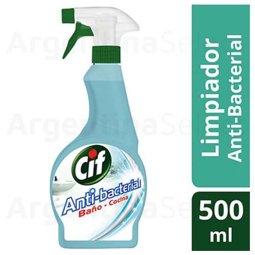 Cif Desinfectante Antibacterial Baño y Cocina c/Gatillo 500 Ml. Argentina Select.