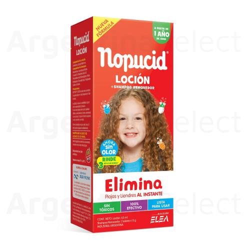 Nopucid Loción 65Ml. + Shampoo Removedor 2 Sobres de 15g., elimina Piojos y Liendres al Instante!!!! Argentina Select.