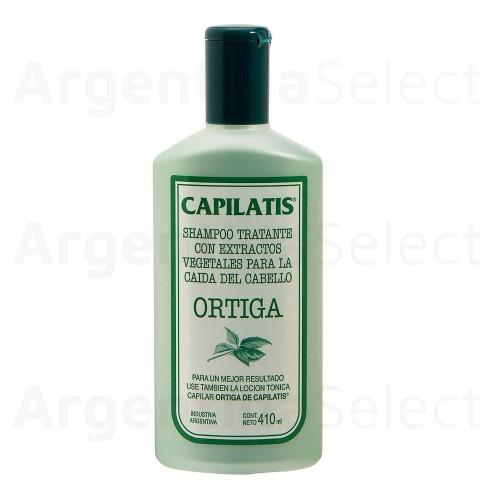 Capilatis Shampoo Ortiga Tratante Anticaida de Cabello 410Ml. Argentina Select.