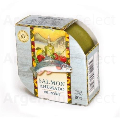 Granjas Patagónicas Salmón Ahumado en Aceite, 80 g / 2.82 oz. Argentina Select.